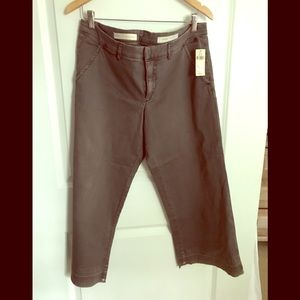 Anthropologie Pilcro Khaki Cropped Pants, Size 32